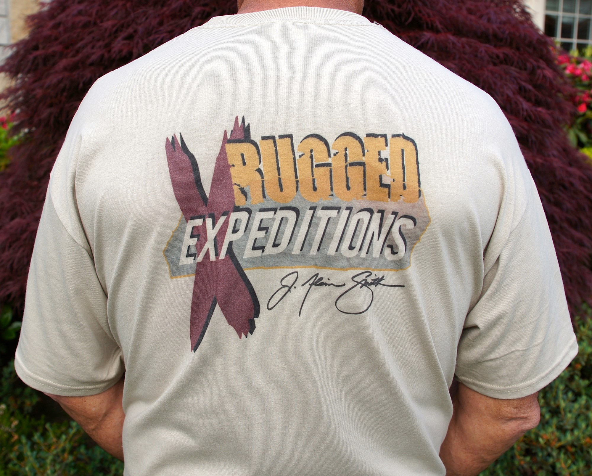J Alain Smith announces Rugged Expeditions logo T-shirts and hats