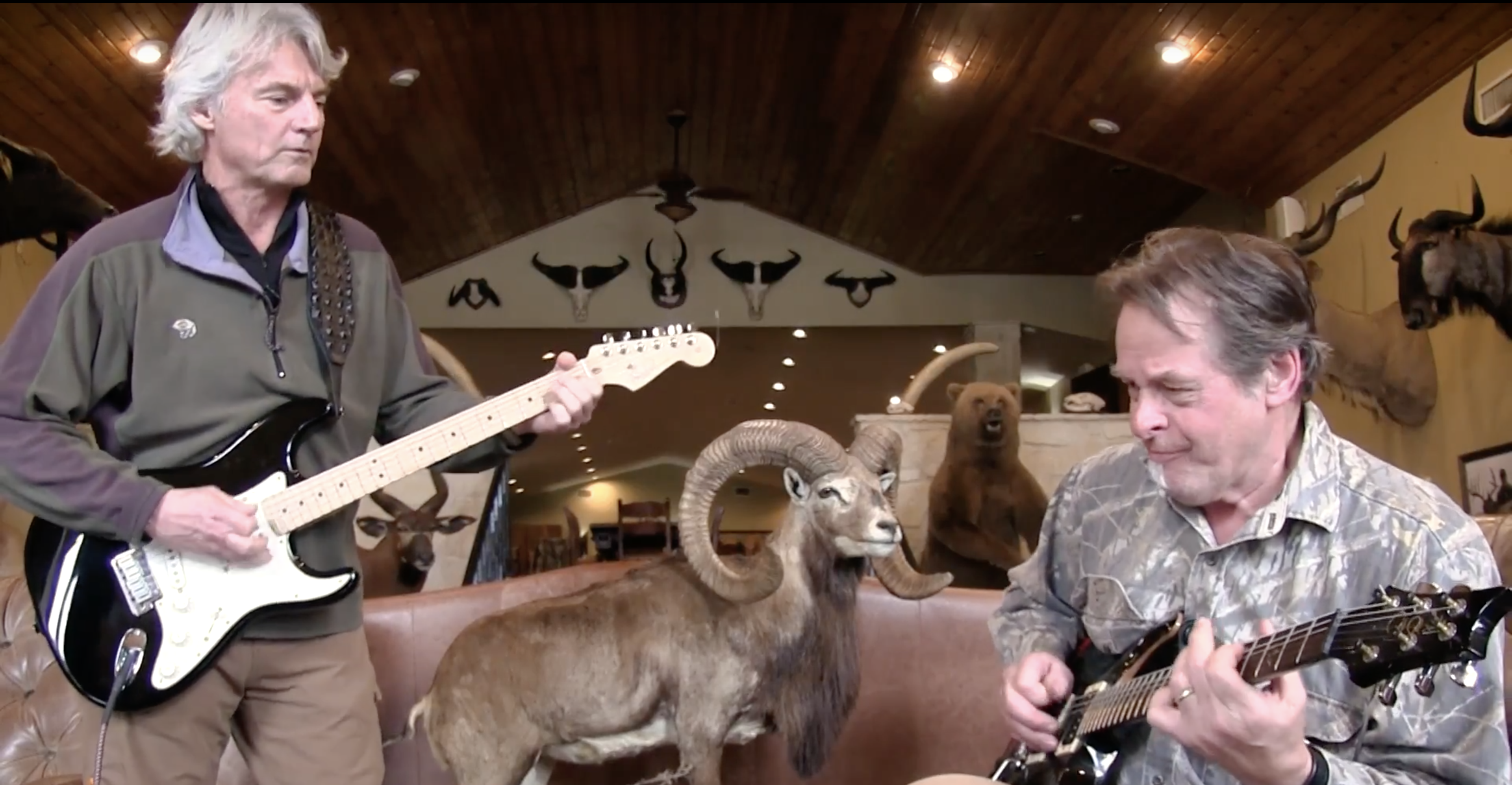 Nothing like an impromptu jam session between friends after a morning hunt! Starring Ted Nugent and J. Alain Smith!
